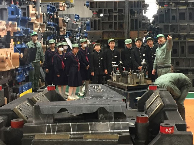 Factory tours for elementary and junior high school students